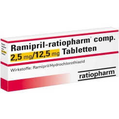 Ramipril ratiopharm comp.2,5mg/12,5mg Tabl.