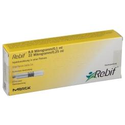 REBIF 8,8 µg/0,1ml+22 µg/0,25ml