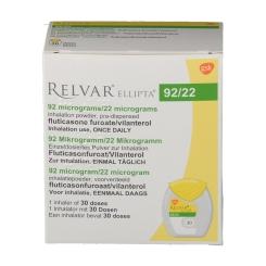 RELVAR Ellipta 92 Mikrogramm/22 Mikrogramm Inh.-P.