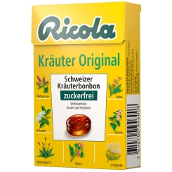Ricola® Schweizer Kräuterbonbons Box Kräuter Original ohne Zucker