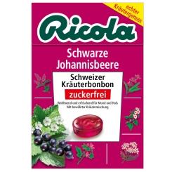 Ricola® Schweizer Kräuterbonbons Box Schwarze Johannisbeere ohne Zucker
