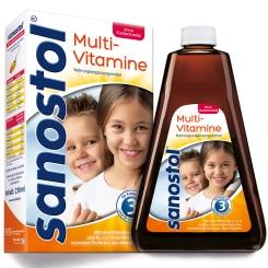Sanostol Multi-Vitamin Saft ohne Zuckerzusatz
