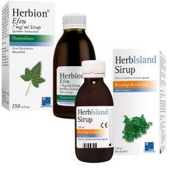 Set aus Herbion® Efeu 150 ml + HerbIsland Sirup 150 ml