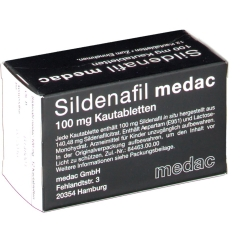 SILDENAFIL MEDAC 100MG