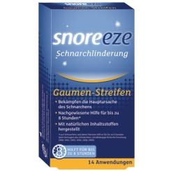 snoreeze Schnarchlinderung Gaumenstreifen
