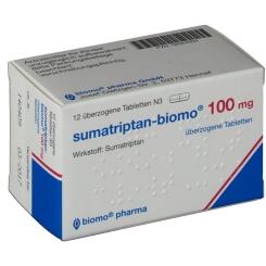SUMATRIPTAN biomo 100 mg ueberzogene Tabletten