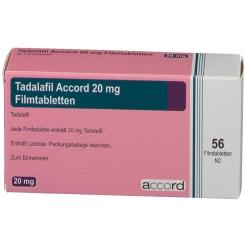 TADALAFIL Accord 20 mg Filmtabletten