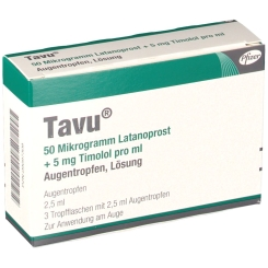 TAVU 50 µg Latanoprost+5 mg Timolol pro ml