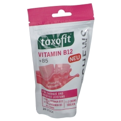taxofit® Vitamin B12 + B5 Softchews Himbeer