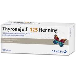 Thyronajod 125 Henning Tabl.