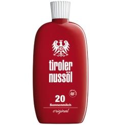 Tiroler Nussöl original Sonnenmilch wasserfest LSF 20