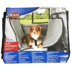Trixie Auto-Schondecke hellgrau/schwarz 1,45 x 1,60 m