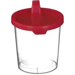 Urinbecher mit Schnappdeckel 125 ml