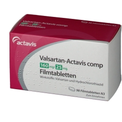 VALSARTAN Actavis comp 160 mg/25 mg