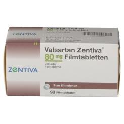 VALSARTAN Zentiva 80 mg Filmtabletten