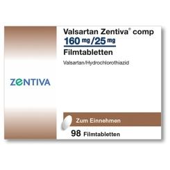 VALSARTAN Zentiva comp.160 mg/25 mg Filmtabletten