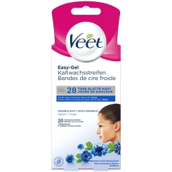 Veet® EasyGrip Kaltwachsstreifen Gesicht