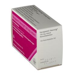Verapamil Hennig 120 mg retard Tabl.