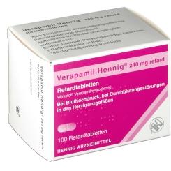 Verapamil Hennig 240 mg Retardtabletten
