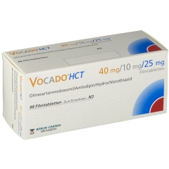 VOCADO HCT 40 mg/10 mg/25 mg