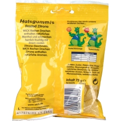 WICK Rachen Drachen Halsgummi Zitrone