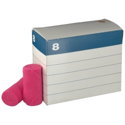 YPSIFIX® color Fixierbinde Pink 8 cm x 4 m