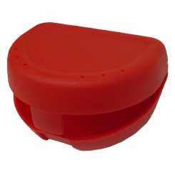 Zahnspangenbox small rot