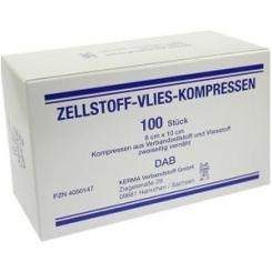 Zellstoff-Vlies-Kompresse 8x10 cm unsteril