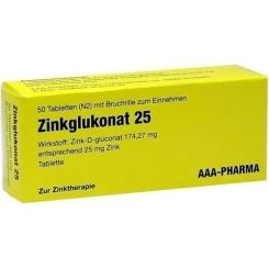 Zinkglukonat 25 Tabletten