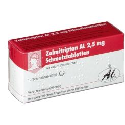 ZOLMITRIPTAN AL 2,5 mg