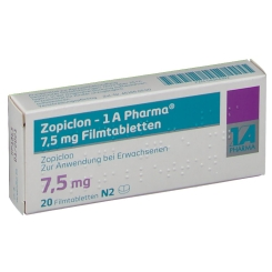 ZOPICLON 1A Pharma 7,5 mg