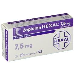 Zopiclon Hexal 7,5 mg Filmtabletten