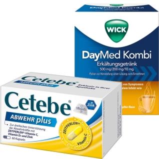 AbwehrsetWICK DayMed Kombi +Cetebe® ABWEHR plus