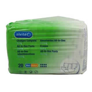 alvita® All-in-One Inkontinenzhosen Maxi Medium Nacht