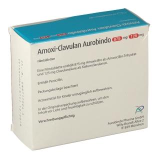 AMOXI CLAVULAN Aurobindo 875mg/125mg Filmtabletten