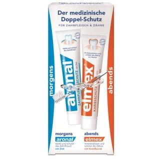 aronal® und elmex® Zahnpasta Doppelschutz