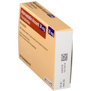 ATORVASTATIN Accord 20 mg Filmtabletten