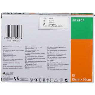 BACTIGRAS® antiseptische Paraffingaze 10x10cm steril