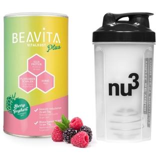 BEAVITA Vitalkost Plus, 2 Wochen Diät-Paket, Himbeer-Joghurt
