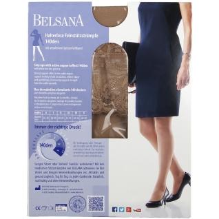 Belsana 140den Halterlose Feinstützstrümpfe Größe 3 Schuhgröße 41 - 43 Sand