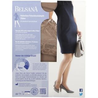 Belsana 70den Halterlose Feinstützstrümpfe Größe 4 Schuhgröße 44 - 46 Sand