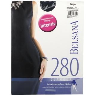 Belsana Stütz 280den Glamour Strumpfhose Größe large Farbe nachtblau normal