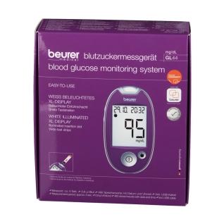 beurer GL44 Blutzuckermessgerät mg/dl lila