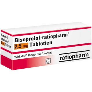 Biosoprolol-ratiopharm® 2,5 mg Tabletten