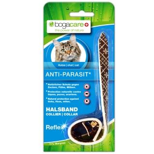 bogacare Anti-Parasit Reflex-Halsband schwarz für Katzen
