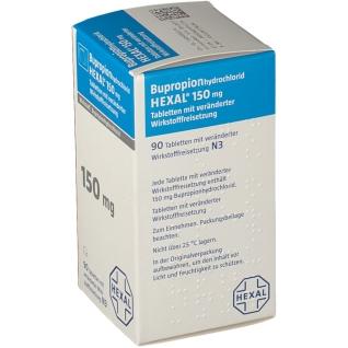 BUPROPIONHYDROCHLORID HEXAL 150 mg Tabletten