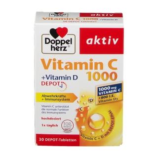 Doppelherz aktiv Vitamin C 1000 + Vitamin D Depot