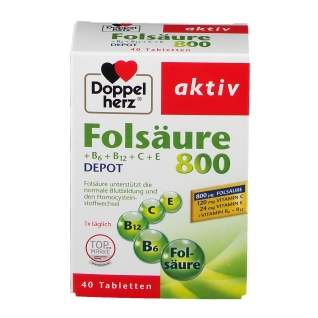 Doppelherz® Folsäure 800 + B6 + B12 + C + E DEPOT