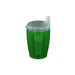 Dr. Junghans® Einnehmebecher mit 2 Griffen und Deckel 12 mm grün