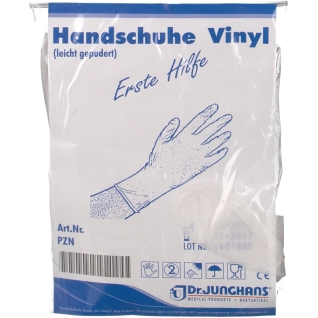 Dr. Junghans® Handschuhe Vinyl unsteril Gr. L leicht gepudert
